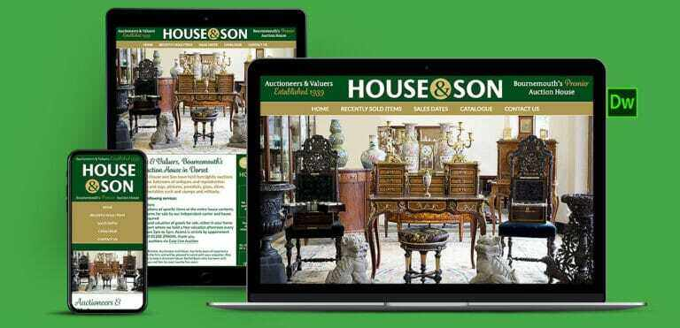 Auctioneers Hand Coded Website Design