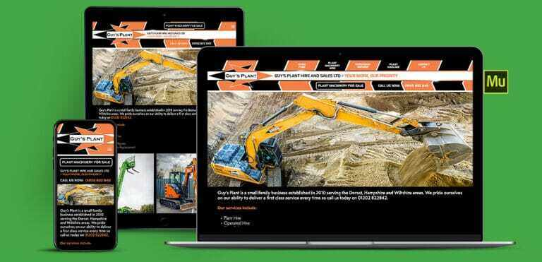 Haulage And Plant Hire Adobe Muse Website Design